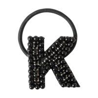 K パール&ビジューヘアゴム  ブラック