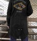 黒ウサギ隊刺繍M51ジャケット着用後s