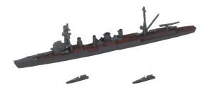 軽巡洋艦 川内型+内火艇×2
