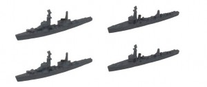 海防艦丙型×2+掃海艇×2