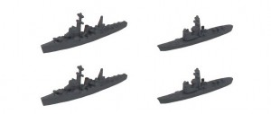 海防艦丁型ד2+駆潜艇×2