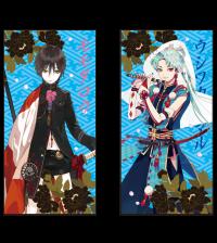 """【掲載画像】一血卍傑-ONLINE- プレミアムバスタオル""""モモタロウ&ウシワカマル"""""""